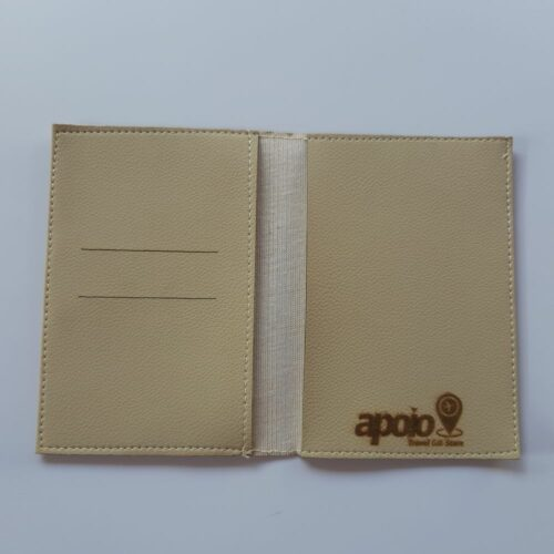 porta passaporte bege interno